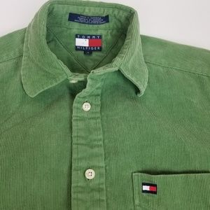 Vintage Tommy Hilfiger corduroy long sleeve button